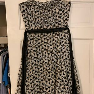 Moulinette Souers black and white cocktail dress
